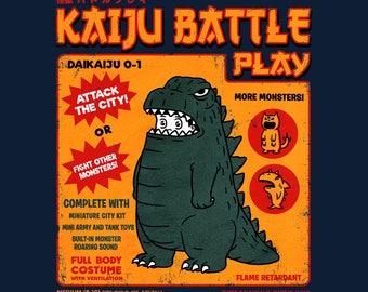 Kaiju Player 1 - Retro Kaiju Costume   Japanese Tokusatsu Show   Godzilla Inspired   Classic Monster Battle Unisex T-shirt