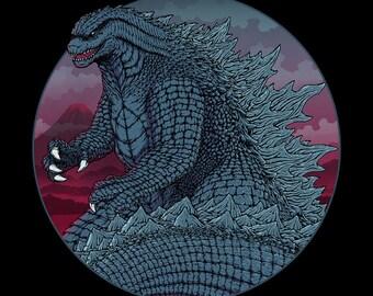 Kaiju in Tokyo - Monster Daikaiju Tokustasu Film    Kaiju Inspired    Mt. Fuji Sci-Fi Japan Monster Movie Unisex T-shirt