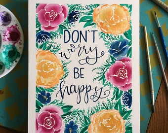 Don't Worry Be Happy Original Painting