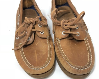 Vinatge Sperry Top Sider Authentic Original Leather Boat Shoes Mens Size 6
