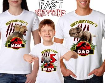 653a52d6 Jurassic Park Birthday Boy Birthday Girl shirts for All Family Members, Dinosaur  Birthday Shirt, T-Rex Shirt Custom Birthday T-shirt