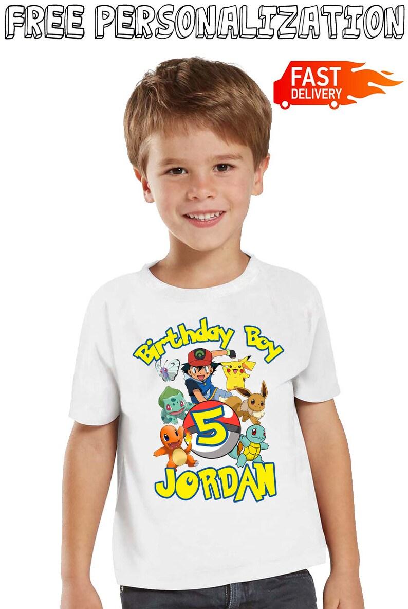 a2b564ff Pokemon Birthday Shirt for Kids and Family Custom Birthday | Etsy