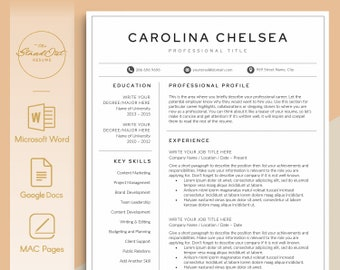 Buy a resume template