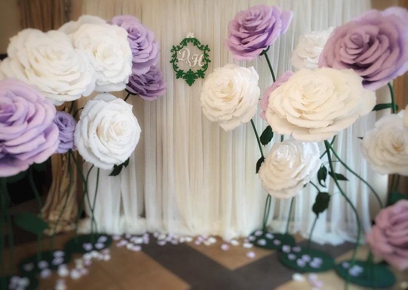 ba15bd011244 Large Paper Flowers-Izolon flowers Decor-Wedding