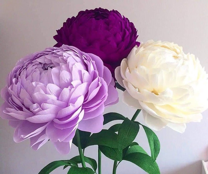 Giant Paper Rose For Wall Decor Flower With Stem Wedding Flower Centerpiece Nursery Flowers Flowers For Vase Extra Large Paper Rose