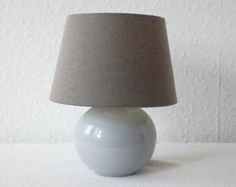 dark green Vintage 80s Small Ceramic Table Lamp,Mid Century Modern