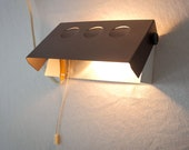 Vintage dutch wall lamp with a brown shade that can be adjusted, Dutch design from the 1960s