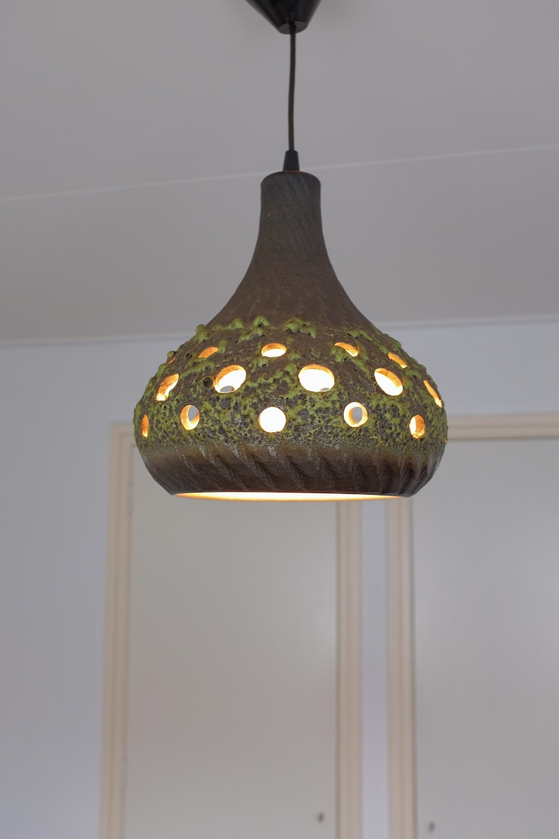 En Lumière NéerlandaisBoho Plafond Rétro VintageSuperbe De Des Suspension Années 70Lampe Design Céramique WHEDIYbe29
