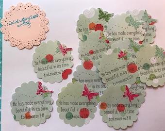 Bible Verse Card - He has made everything beautiful in its time  - Ecclesiastes 3:11