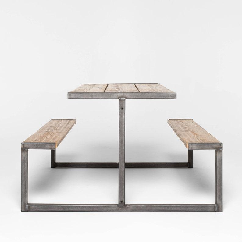 Table De Pique Nique Banc Style Industriel Pub Etsy