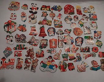 Vintage gummed Christmas Stickers