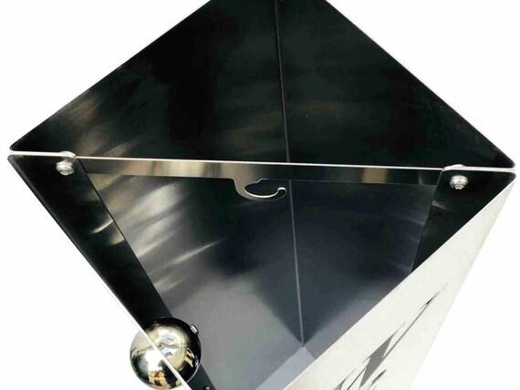 Edelstahlsäule Blank 20x20x100cm Säule aus Edelstahl geschliffen