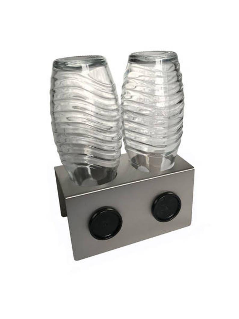 2 Seer Stainless Steel Drain Holder For E G Sodastream Crystal Bottles