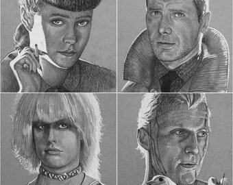 All 4 Bladerunner Prints