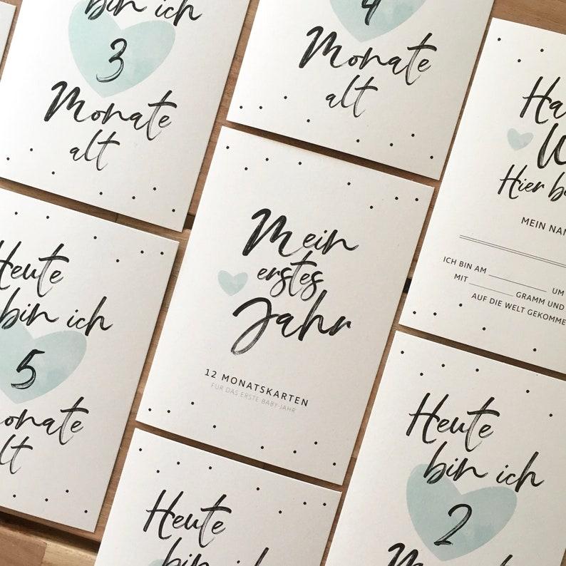 schönste Momente Meilensteinkarten Baby`s erstes Jahr Milestone cards