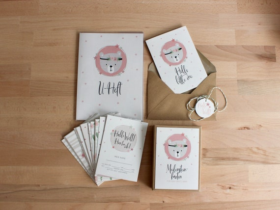 Baby-Meilensteinkarten Monatskarten Brush Dots rosa