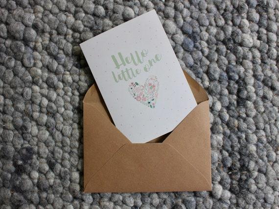 Baby-Meilensteinkarten Flower Heart