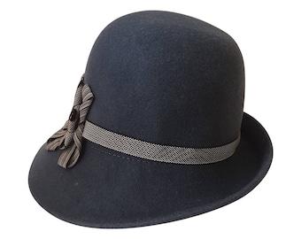 Cappello Cloche elegante vintage-Made in Italy 20a4d3b05a9b