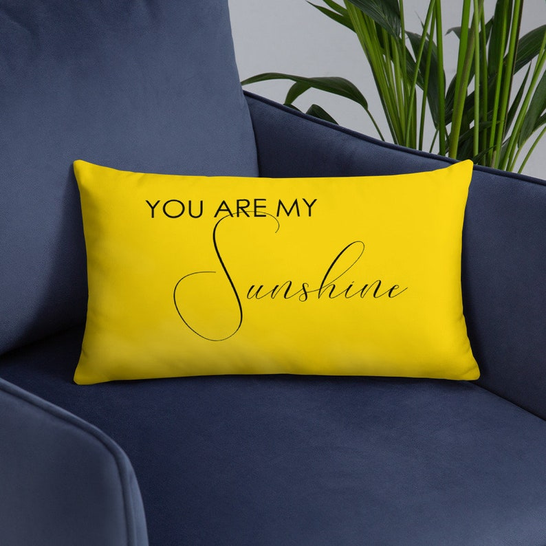 You Are My Sunshine Pillow  Lumbar Sunshine Throw Cover and image 0