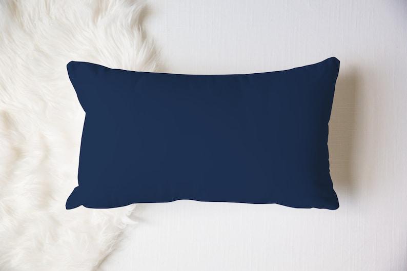 Tropical Bedroom Boys Nursery Plain Solid Toss Navy Sea Throw Beach House Gift Dark Blue Lumbar Pillow 20x12 Deep Blue Ocean Pillow