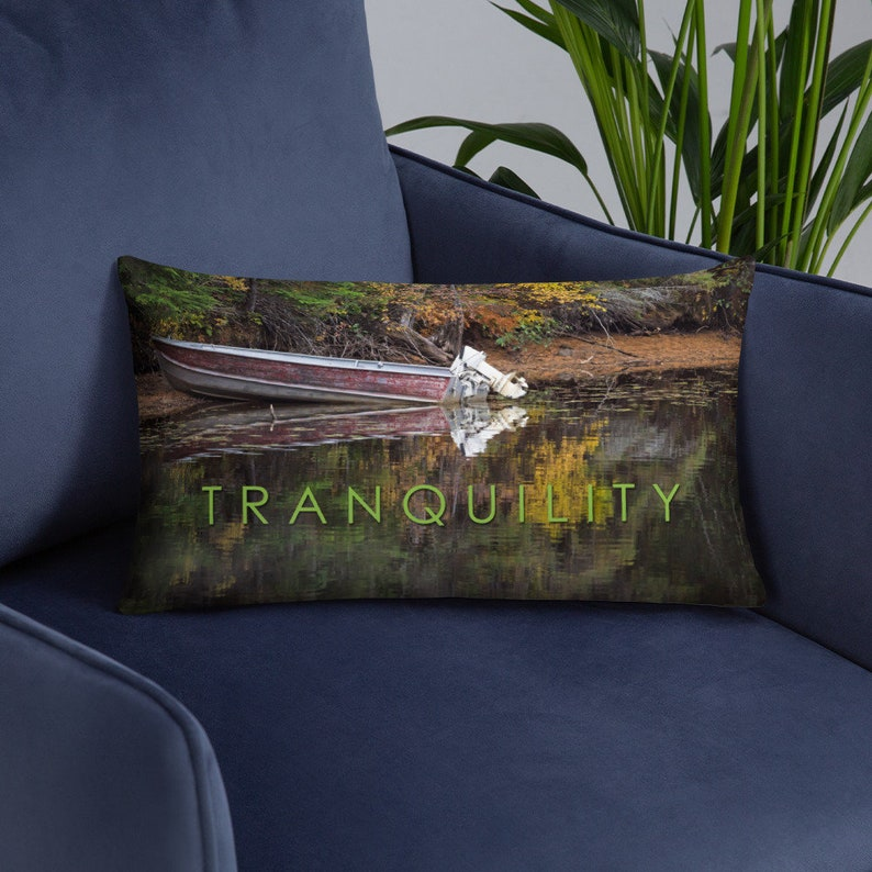Tranquility Relax Pillow Cover and Insert  Tranquil Decor image 0
