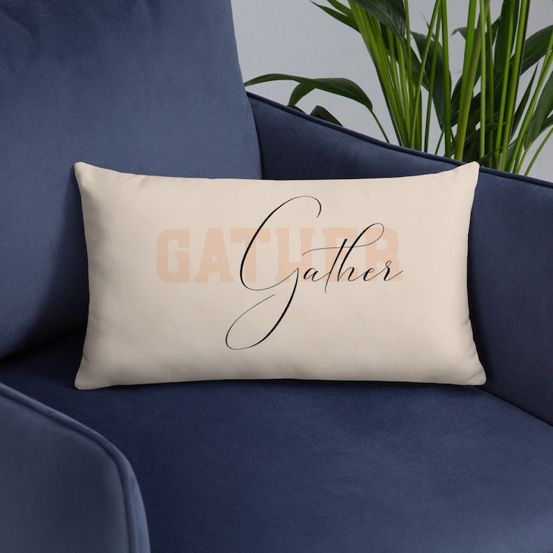 Gather Pillow Cover and Insert  Thanksgiving Pillow Fall image 0