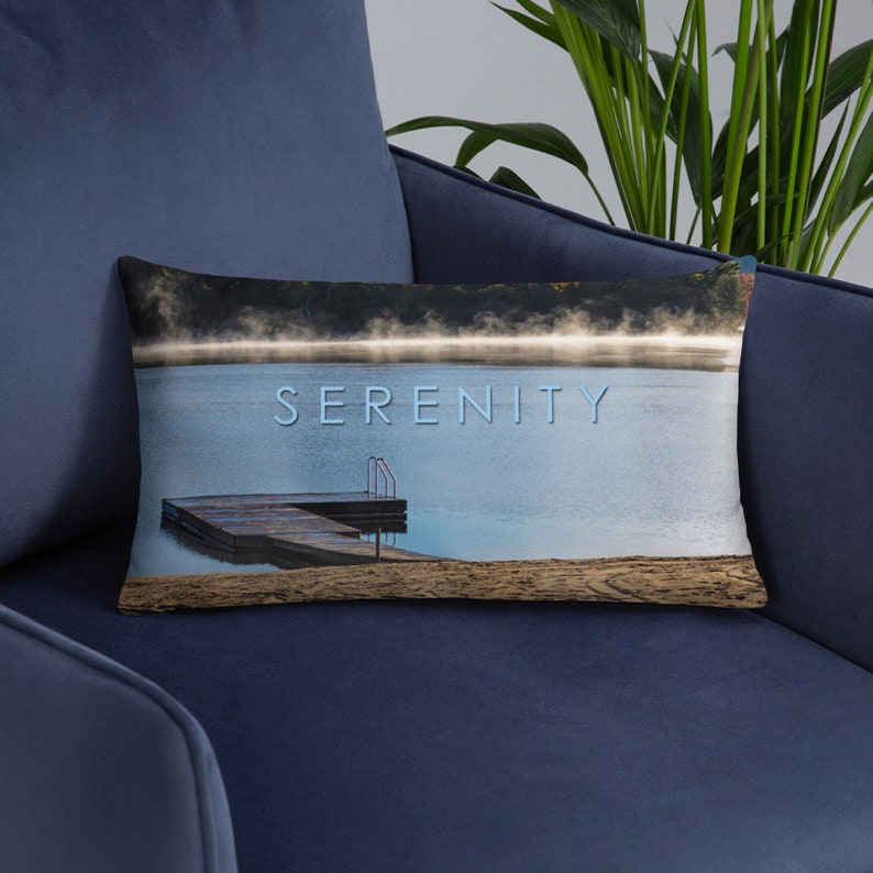 Serenity Pillow Cover and Insert  Serene Relax Pillow image 0