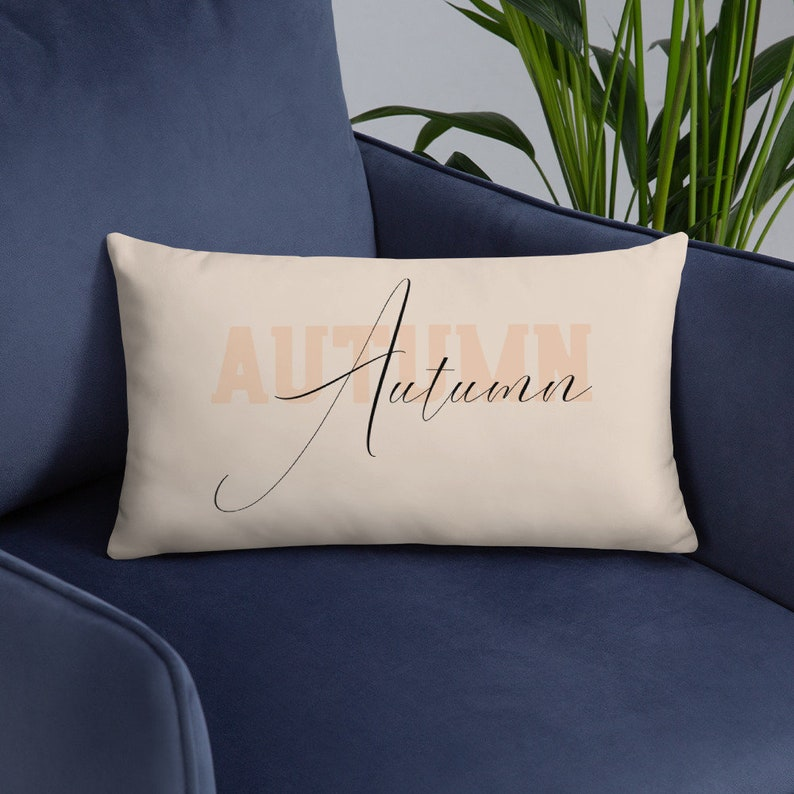 Autumn Throw Pillow Cover with Insert  Fall Porch Pillow image 0