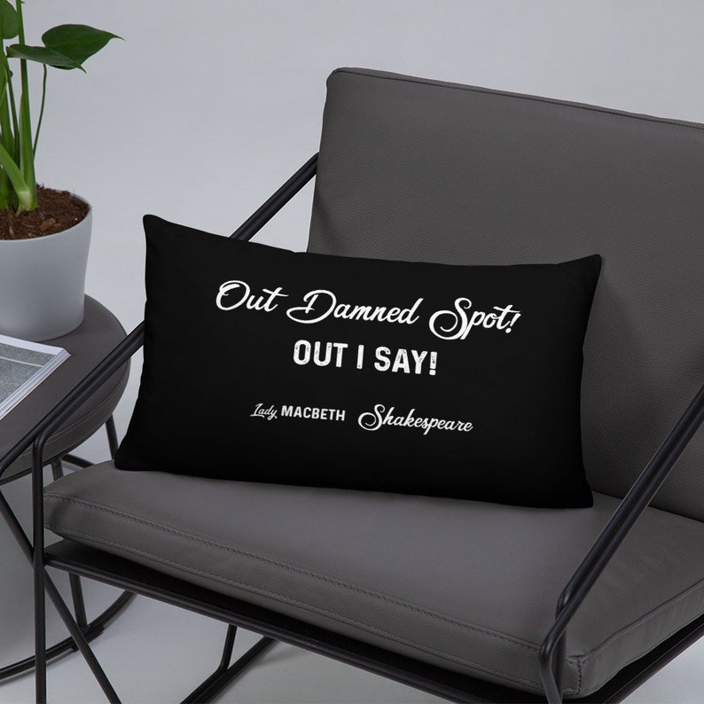 Shakespeare Throw Pillow  Cover with Insert Lady Macbeth image 0