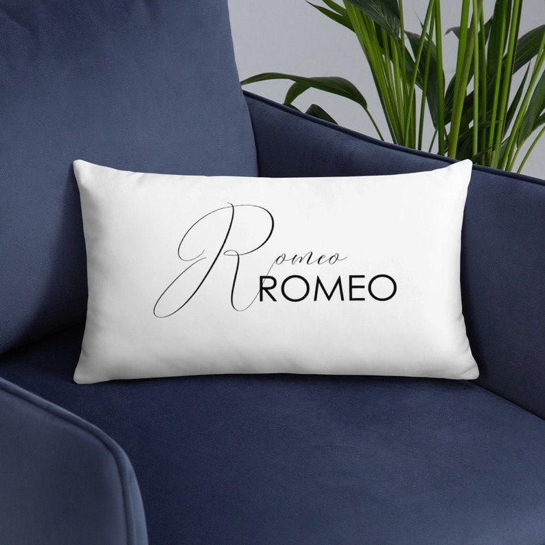 Romeo and Juliet Pillow Cover and Insert  William Shakespeare image 0