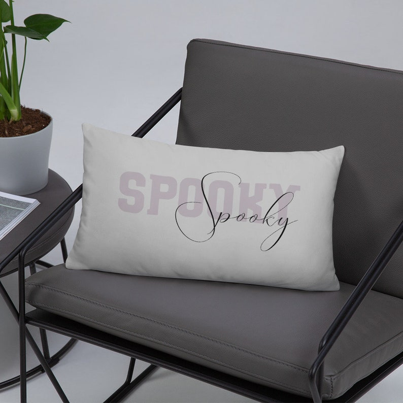 Spooky Throw Pillow Cover and Insert  Halloween Cushion Fall image 0