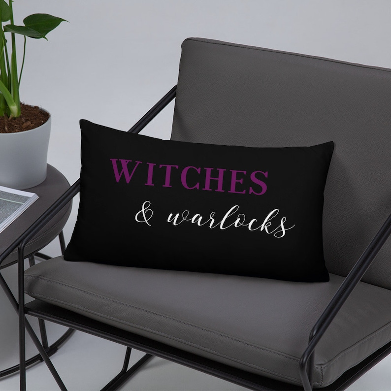 Witch Throw Pillow Cover and Insert  Witches and Warlocks image 0