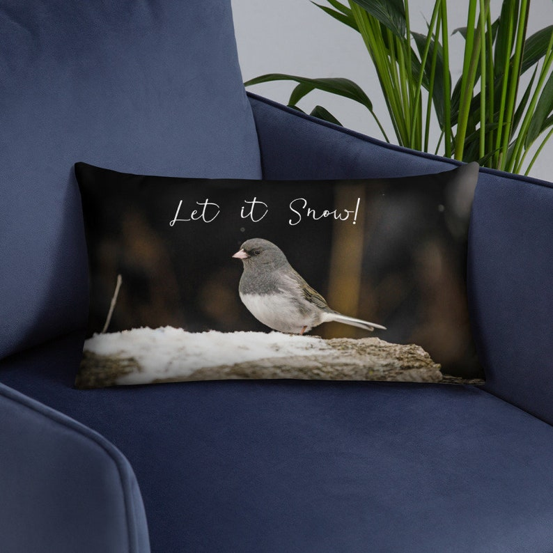 Let It Snow Decor Throw Pillow  Cover and Insert Christmas image 0