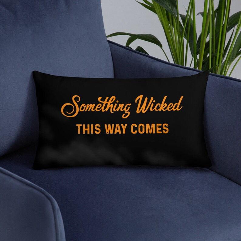 Shakespeare Something Wicked Throw Pillow  Cover with Insert image 0