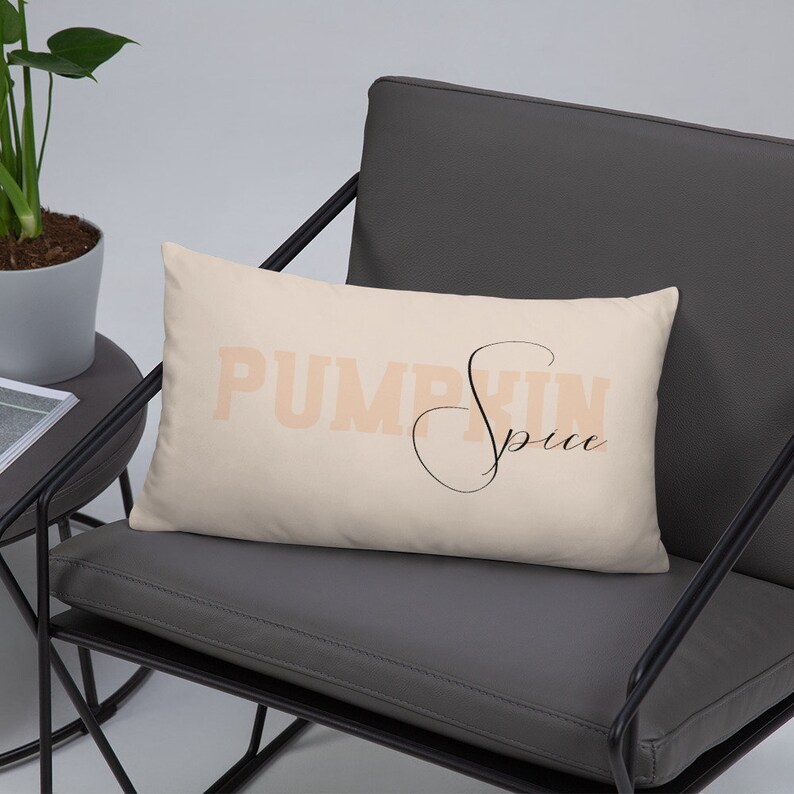 Pumpkin Spice Pillow Cover with Stuffed Insert  Fall Porch image 0