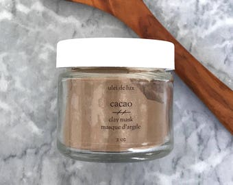 Chocolate Face Mask | Cacao Face Mask | Moroccan Clay Mask | Rhassoul Clay Mask | Vegan Face Mask | Mother Gift