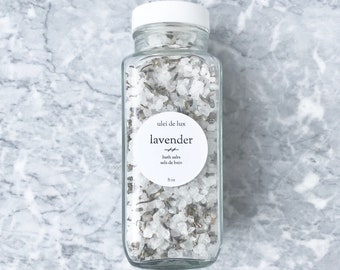 Lavender Bath Salts | Relaxing Bath Soak | Herbal Spa Gift | Aromatherapy Bath Salts | Sea Salt Soak | Mother Gift | Bridesmaid Gift