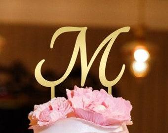 Letter m cake topper | Etsy