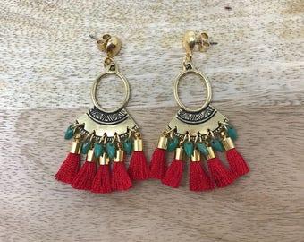 Tribal Earrings / Tassle Earrings