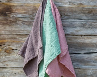 Linen towel, set of 3 natural linen, handmade linen towels, kitchen towels, linen home decor.