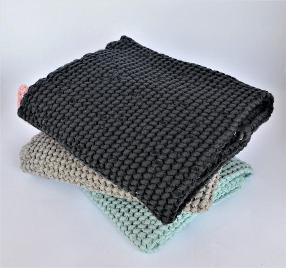 Black Linen Bath Towel Linen Towel In Waffle Weave Soft Bath Towel Spa Towel Soft Black Waffle Linen Bath Towel Waffle Pattern Towel