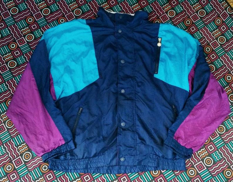 41e68679c Vintage 80s 90s Christian Dior designer windbreaker jacket nylon polyester  size M