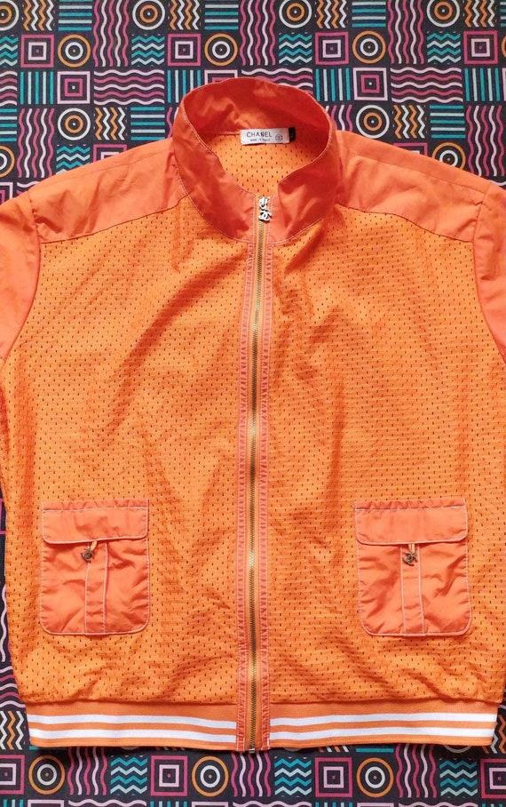 Vintage 90s CHANEL women light jacket size XL - image 7