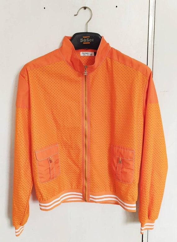 Vintage 90s CHANEL women light jacket size XL