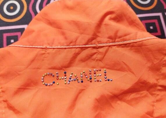 Vintage 90s CHANEL women light jacket size XL - image 6