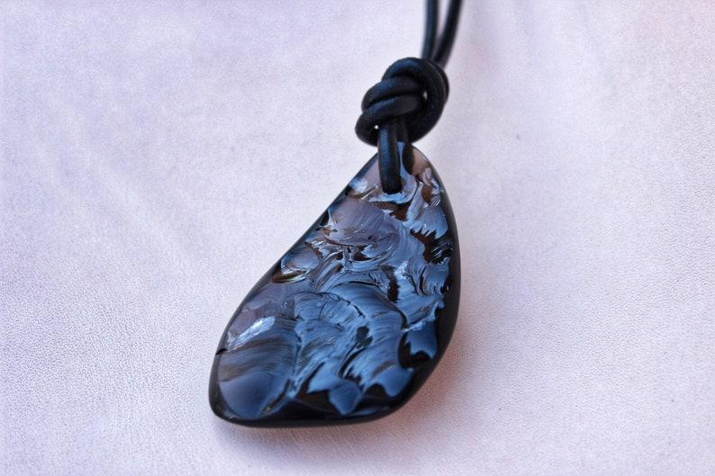 Obsidian Pendant Neolithic Forge Pendant Stone Ornament