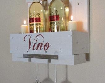 Wine Rack Pallet Wood Shabby Vintage Gift Idea