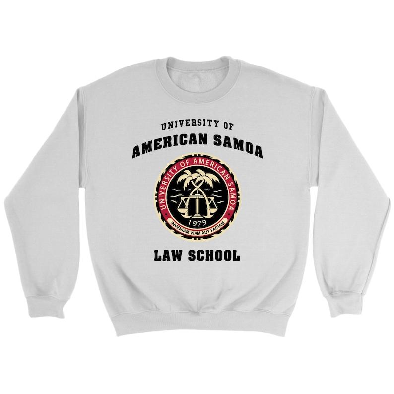922565cd2f21 Università di Samoa americana legge scuola felpa maglione
