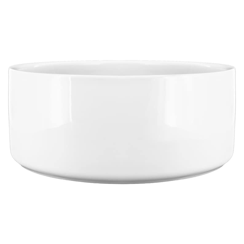 White Marble Ceramic Dog Bowl Aquamenti Food And Water Dish Gift For Pet