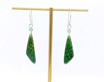 Handmade Enamel earrings - Dragonfly wings